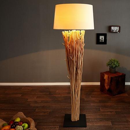 XL Stehlampe PENANG Weiß aus Treibholz handgefertigt 175cm Höhe - 1