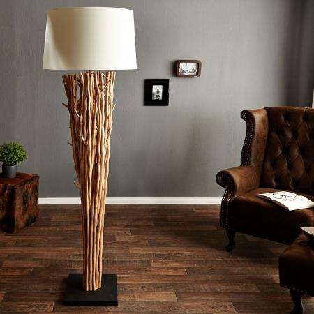 XL Stehlampe PENANG Weiß aus Treibholz handgefertigt 175cm Höhe - 2