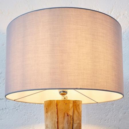 XL Stehlampe [SABAH] Grau aus Treibholz handgefertigt 160-175cm Höhe - 3