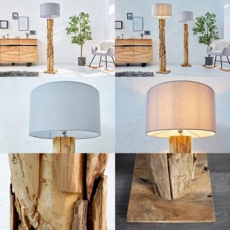 XL Stehlampe [SABAH] Grau aus Treibholz handgefertigt 160-175cm Höhe - 5