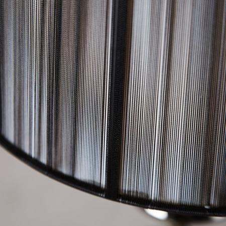 Stehlampe SCARLET Schwarz mit Standfuß aus Schwarz glänzendem Metall 160cm Höhe - 3