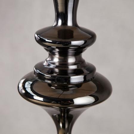 Stehlampe SCARLET Schwarz mit Standfuß aus Schwarz glänzendem Metall 160cm Höhe - 4
