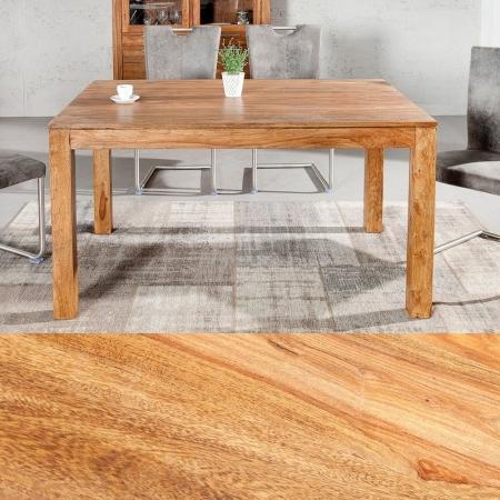 Esstisch SATNA Sheesham massiv Holz gewachst 140cm - 1