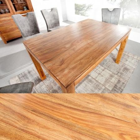 Esstisch SATNA Sheesham massiv Holz gewachst 140cm - 2