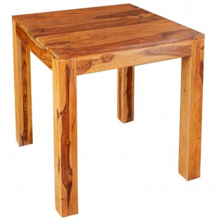 Esstisch SATNA Sheesham massiv Holz gewachst 70cm x 70cm - 3