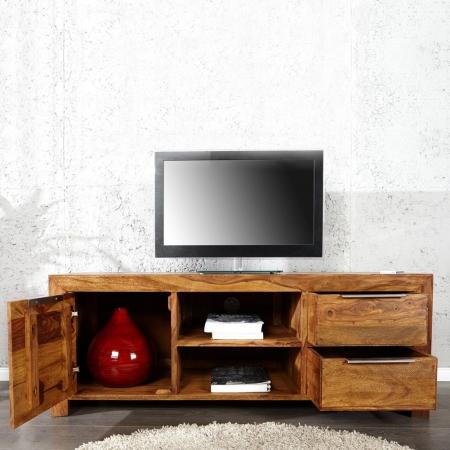 TV-Tisch SATNA Sheesham massiv Holz gewachst 135cm - 2
