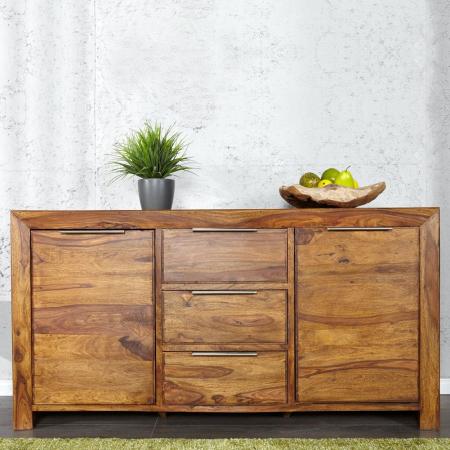 Sideboard SATNA Sheesham massiv Holz gewachst 140cm - 1