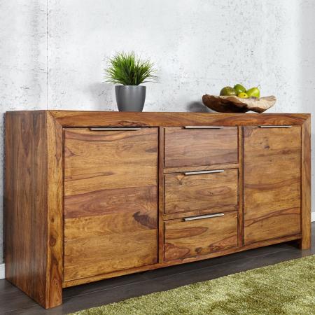 Sideboard SATNA Sheesham massiv Holz gewachst 140cm - 2