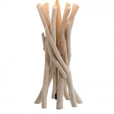 Tischlampe KEMANG Beige aus Treibholz handgefertigt 60cm Höhe - 3