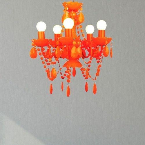 Kronleuchter GIA Neon-Orange 5-armig 38cm Ø - 2