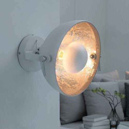 Wandlampe SPOT Weiß-Silber 30cm Ø verstellbar - 1