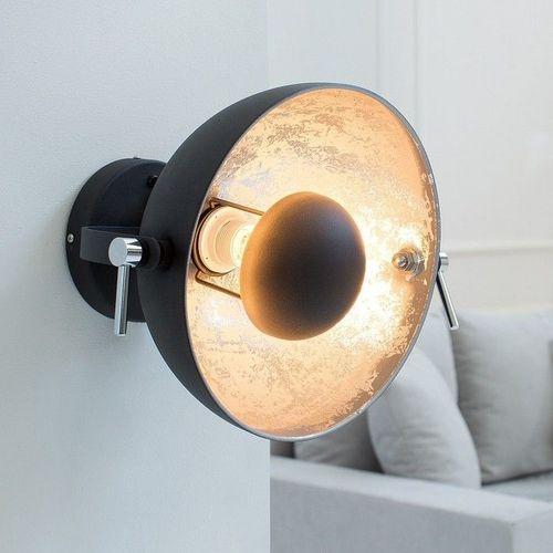Wandlampe SPOT Schwarz-Silber 30cm Ø verstellbar - 1