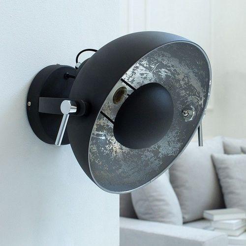 Wandlampe SPOT Schwarz-Silber 30cm Ø verstellbar - 2