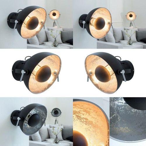 Wandlampe SPOT Schwarz-Silber 30cm Ø verstellbar - 3