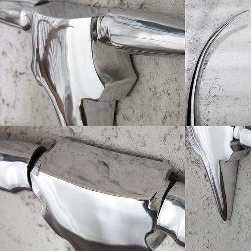 Deko Stierkopf Schädel ARIZONA Silber aus poliertem Aluminium 100cm Länge - 3