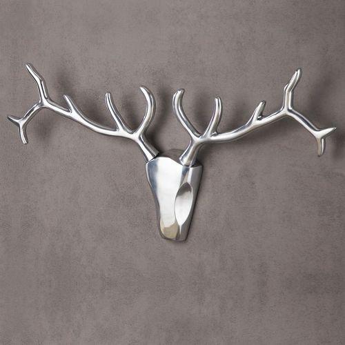 Deko Geweih PATRONUS Silber aus poliertem Aluminium 45cm x 90cm - 1