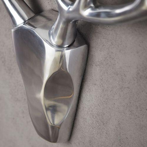 Deko Geweih PATRONUS Silber aus poliertem Aluminium 45cm x 90cm - 3