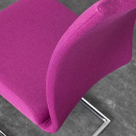 Freischwinger MIAMI Pink aus Strukturstoff - 3