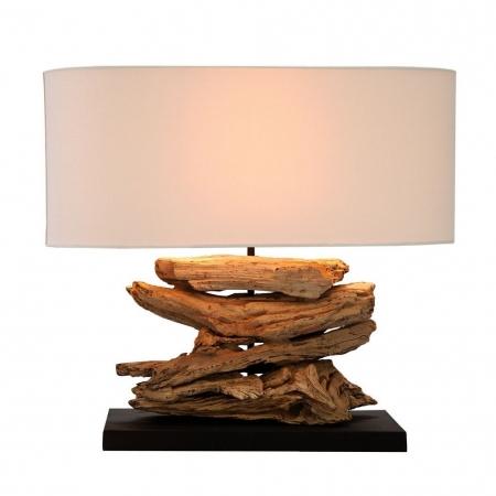 Tischlampe TIMOR Beige aus Treibholz handgefertigt 55cm Breite - 2