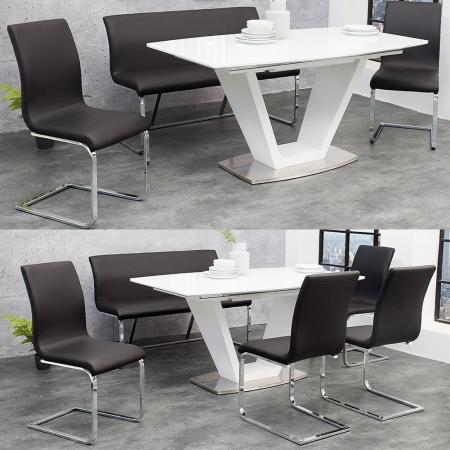 Sitzbank ENZO Schwarz aus Kunstleder 130cm - 2