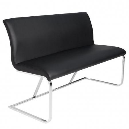 Sitzbank ENZO Schwarz aus Kunstleder 130cm - 3