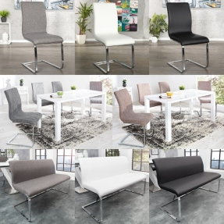 Sitzbank ENZO Schwarz aus Kunstleder 130cm - 4