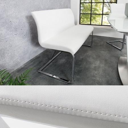 Sitzbank ENZO Weiß aus Kunstleder 130cm - 1