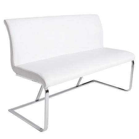 Sitzbank ENZO Weiß aus Kunstleder 130cm - 3