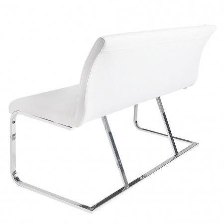 Sitzbank ENZO Weiß aus Kunstleder 130cm - 4