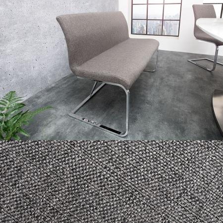 Sitzbank ENZO Grau aus Strukturstoff 130cm - 1