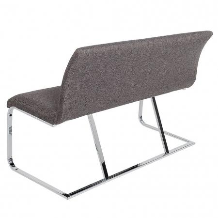 Sitzbank ENZO Grau aus Strukturstoff 130cm - 4