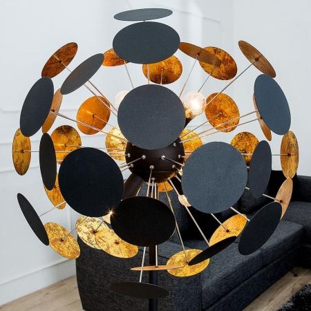 Stehlampe PLATO Schwarz-Gold 170cm Höhe - 3