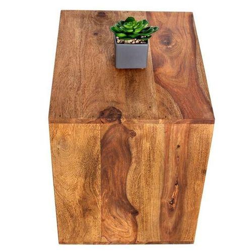 Beistelltisch AGRA Sheesham massiv Holz gewachst 45cm x 45cm - 3