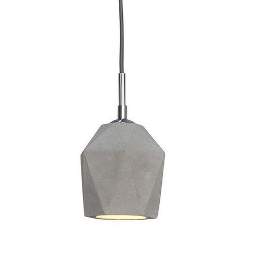Hängelampe URBANO Grau in Diamantenform aus Feinbeton 15cm Höhe - 2