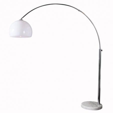 Bogenlampe LUXX Weiß & Marmorfuß Weiß mit Dimmer 185-205cm Höhe - 3