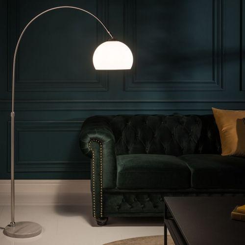 Bogenlampe LUXX Weiß mit Marmorfuß 140-160cm Höhe - 1