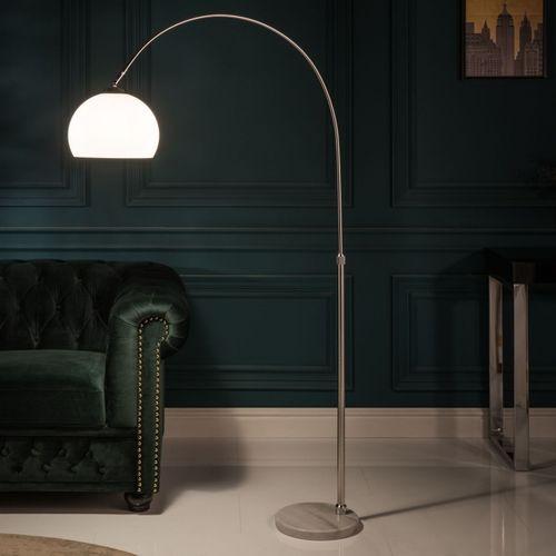 Bogenlampe LUXX Weiß mit Marmorfuß 140-160cm Höhe - 2