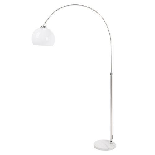 Bogenlampe LUXX Weiß mit Marmorfuß 140-160cm Höhe - 3