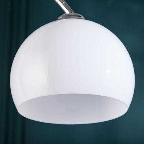 Bogenlampe LUXX Weiß mit Marmorfuß 140-160cm Höhe - 4