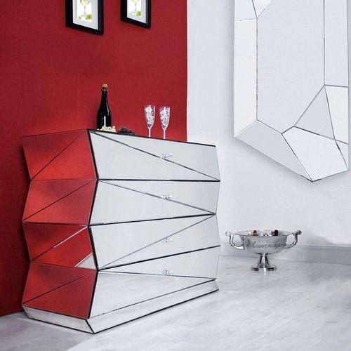 Sideboard FACETTO mit Facettenschliff & 27 Spiegelflächen 100cm - 1