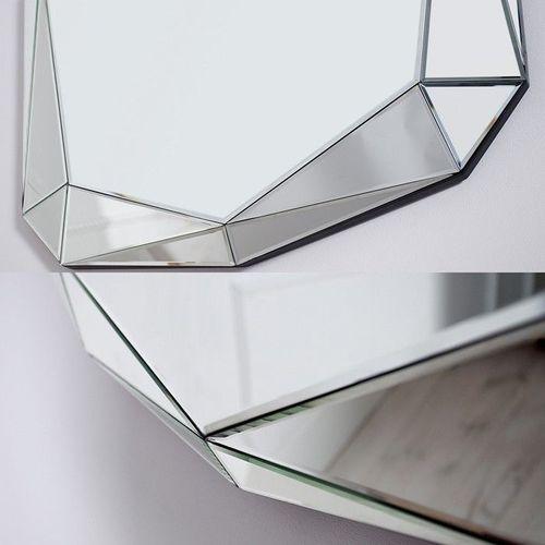 XL Wandspiegel DIAMANT mit Facettenschliff & 20 Spiegelflächen 120cm x 85cm - 4