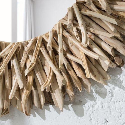 Wandspiegel SIBU Natur aus unbehandeltem Treibholz handgefertigt 80cm Ø - 3