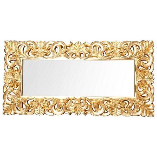 XXL Romantischer Wandspiegel FLORENCE Gold Antik in Barock-Design 180cm x 90cm | Vertikal oder horizontal aufhängbar! - 2