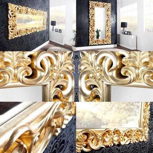 XXL Romantischer Wandspiegel FLORENCE Gold Antik in Barock-Design 180cm x 90cm | Vertikal oder horizontal aufhängbar! - 3