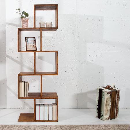 Regal AGRA Sheesham massiv Holz gewachst 150cm x 50cm - 1
