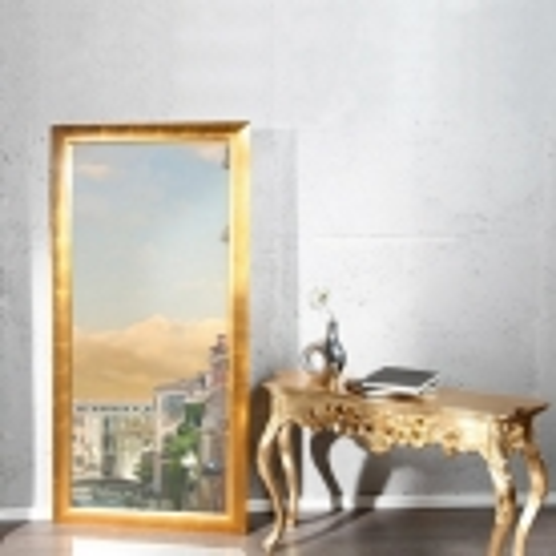 XXL Zeitlos Romantischer Wandspiegel LILLE Gold in Klassik-Design 180cm x 85cm | Vertikal oder horizontal aufhängbar! - 1