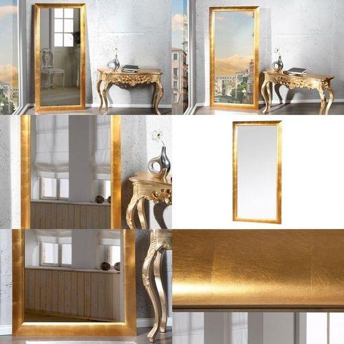 XXL Zeitlos Romantischer Wandspiegel LILLE Gold in Klassik-Design 180cm x 85cm | Vertikal oder horizontal aufhängbar! - 3