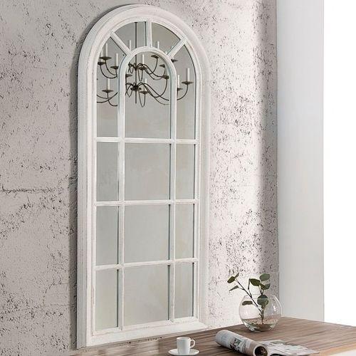 Romantischer Wandspiegel PORTA Weiß Vintage aus Holz 140cm x 60cm - 1
