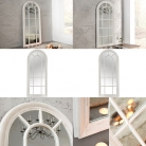 Romantischer Wandspiegel PORTA Weiß Vintage aus Holz 140cm x 60cm - 3