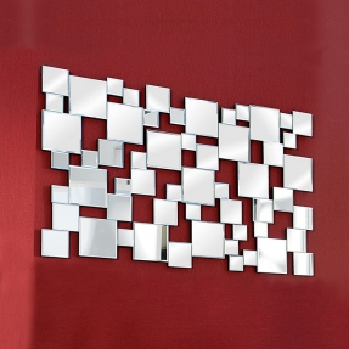XL Wandspiegel MULTIPLEX mit Facettenschliff & 55 Spiegelflächen 140cm x 85cm | Vertikal oder horizontal aufhängbar! - 1